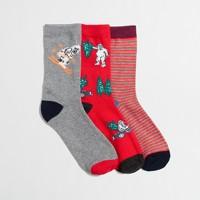 Boys' yeti driving socks three-pack