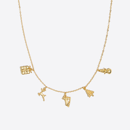 Girls' holiday charm necklace