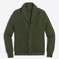 Ribbed cotton cardigan sweater