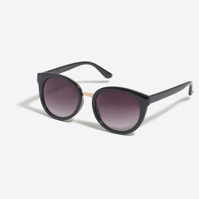 Sunglasses with metal detailing