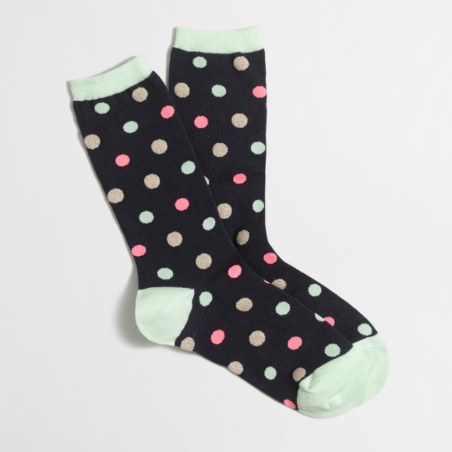 Glitter dot trouser socks