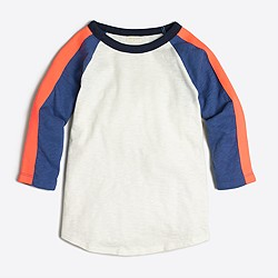 Boys' colorblock baseball T-shirt with arm stripe