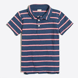 Boys' striped polo