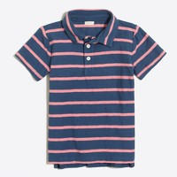 Boys' striped polo