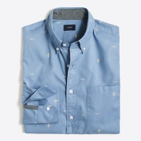 Printed washed shirt