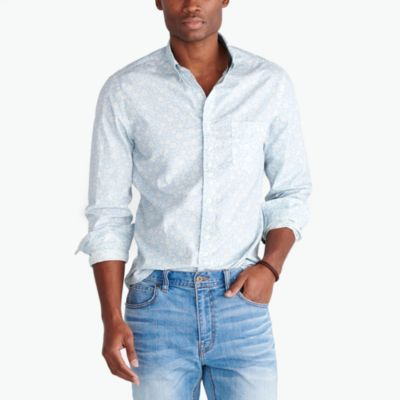 Printed washed shirt factorymen new arrivals c