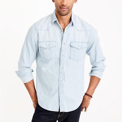 Western chambray shirt