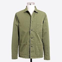 Cotton twill shirt-jacket