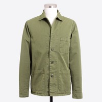 Cotton twill shirt-jacket