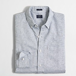 Slim cotton-linen shirt