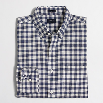 Slim cotton-linen shirt