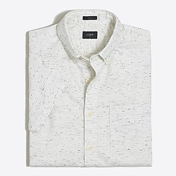 Slim short-sleeve cotton shirt
