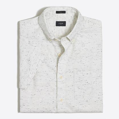 Slim short-sleeve cotton shirt