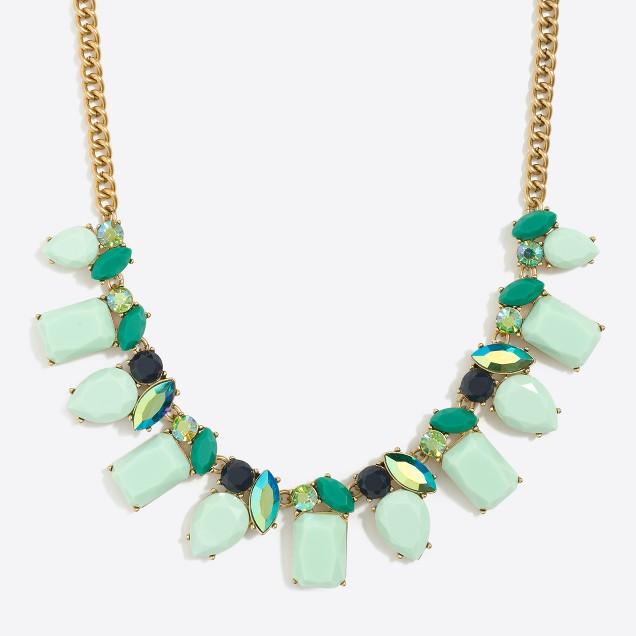 Crystal lights necklace