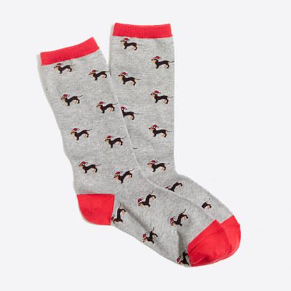 Dachshund trouser socks