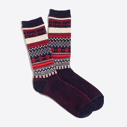 Fair Isle trouser socks