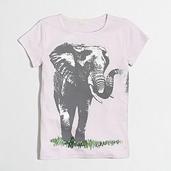 Girls' elephant keepsake T-shirt