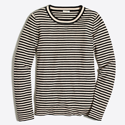 Microstripe Teddie sweater