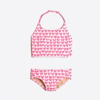 Girls' heart tankini two-piece bikini set
