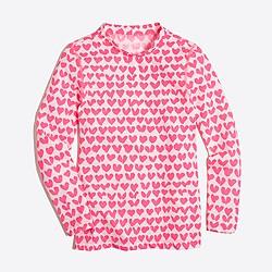 Girls' heart rash guard
