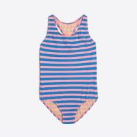 Girls' striped one-piece swimsuit