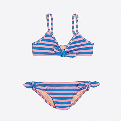 Girls' striped bikini