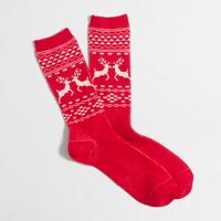 Reindeer winter-weight trouser socks