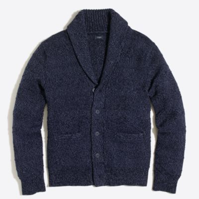 Cotton shawl-collar cardigan sweater factorymen sweaters c