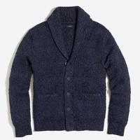 Cotton shawl-collar cardigan sweater