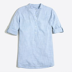 Crosshatch tunic shirt