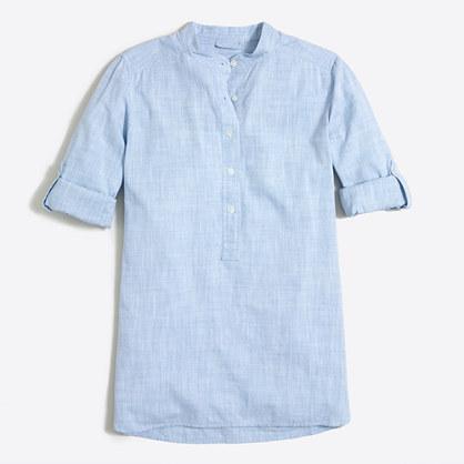 Petite crosshatch tunic shirt
