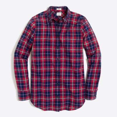 Lightweight homespun shirt in boy fit