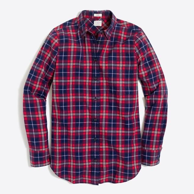 Petite lightweight homespun shirt in boy fit