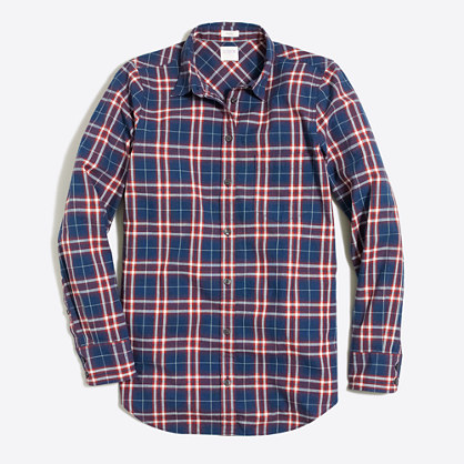 Petite lightweight homespun shirt in boy fit