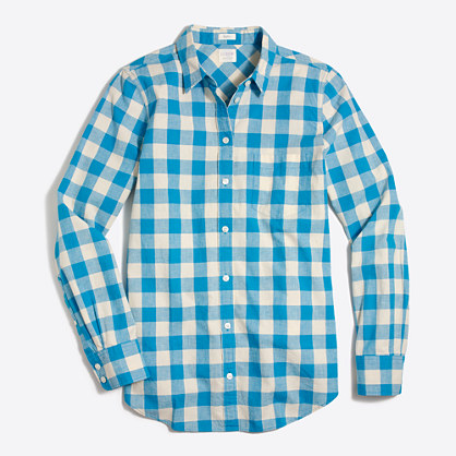 Lightweight homespun shirt in boy fit