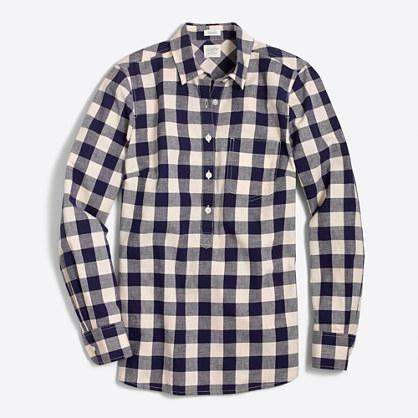 Petite gingham homespun shirt in perfect fit