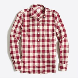Gingham homespun shirt in boy fit