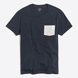Striped-pocket T-shirt