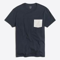 Slim striped-pocket T-shirt
