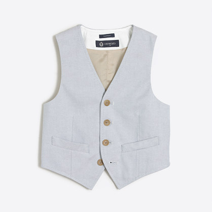 Boys' Thompson suit vest in oxford