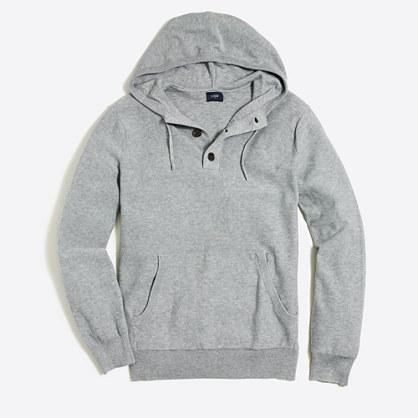 Cotton henley hoodie
