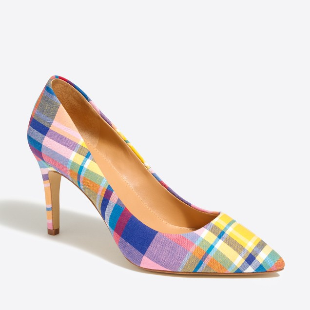 Plaid pumps