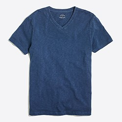 Sunwashed garment-dyed V-neck T-shirt