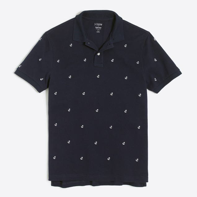 Slim anchor piqué polo
