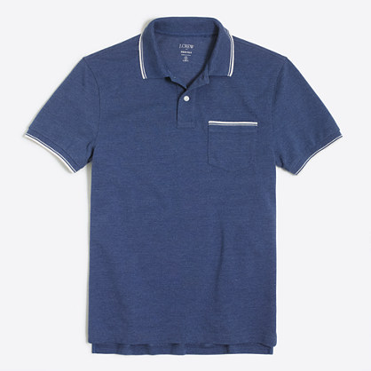 Slim tipped piqué polo