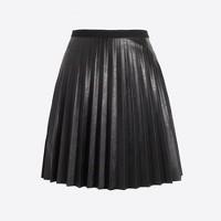 Faux-leather mini skirt