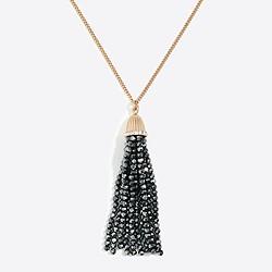 Sparkle tassel pendant necklace