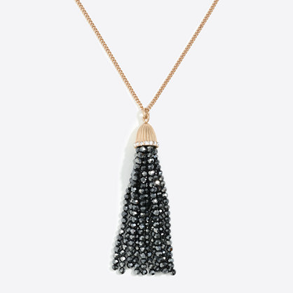 Sparkle tassel pendant necklace