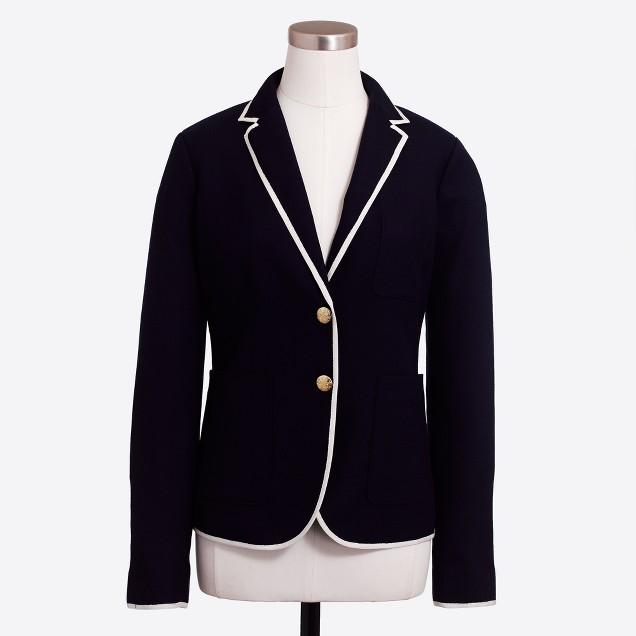 Petite tipped schoolboy blazer