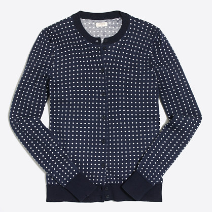 Dotted Caryn cardigan sweater